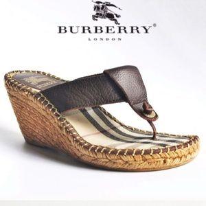 Burberry Wedge Sandals Nova Check trim_7.5